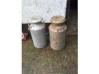 Milk churns selection large and small