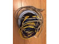 8 x bundle of lan cables .4.5m + 3m + 2m + 0.6m ... Near Russell Square Kings Cross