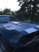 papered 67 camaro in need of restoration