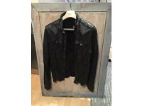 Men's All Saints biker leather jacket . Perfect condition.
