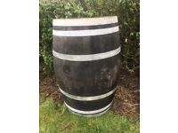 Two whiskey barrel