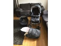 Silver Cross 3D Pram & Pushchair 3 in 1 Travel System with Car Seat