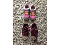 Girls Trainers and Pumps - Infant Size 6 & 6.5