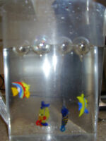 Floating Plastic Aquarium Fish for sale.... set of Four