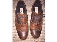 Men's Brogue Shoes Tan Size 9 UK 42