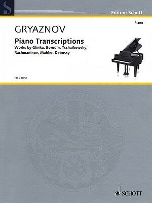 Piano Transcriptions Sheet Music Works by Glinka Borodin Tchaikovsky 049044695