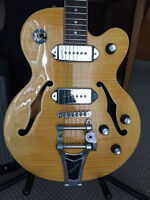 Wildkat Epiphone with Bigsby and fender blues junior amp