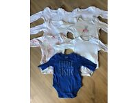 0-3m girls long sleeved bodysuits