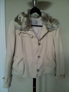 Ladies Spring / Fall / Winter Jacket with Fur Collar (S to M)