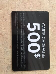 Carte cadeau 500$ Spinelli Lexus Pointe-Claire West Island Greater Montréal image 1