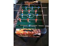 Childrens mini pool table/table football