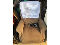 Electric rider and recliner mobility chair lift disability aid
