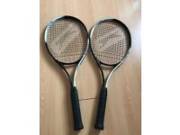 2 x Slazenger L2 smash 27 Tennis racquets