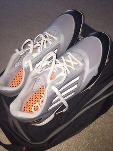 Adidas Men's Adizero Grey/Zest/ Golf shoes size 11.5