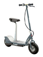 Razor E300S Seated Electric Scooter, Gray