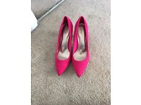 Brand new pink stiletto shoes size 6