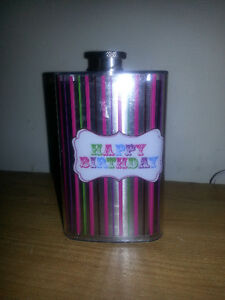 HAPPPY BIRTHDAY STAINLESS STEEL FLASK MINT CONDITION!!!!!!!!!!!! London Ontario image 2