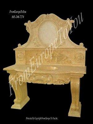 BEAUTIFUL HAND CARVED MARBLE BATHROOM SINK - SINK 58