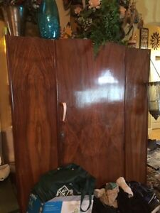 Beautiful full size Mahogany wardrobe Strathcona County Edmonton Area image 1