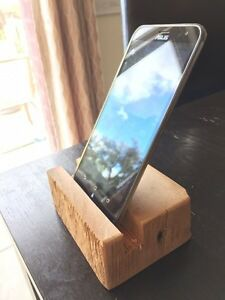 Barn wood cell phone stand