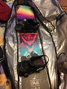 "Snowboard w/ bindings, Salomon 150"" 2016 Wonder"