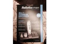Men's Cordless BaByliss 10 in 1 Titanium Face and Body Groomer Brand New Never Used Can Deliver