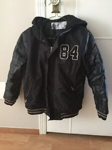 Youth Kid's London Fog bomber jacket with hoodie
