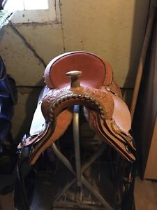 Brand new Billy Cook barrel saddle! 15 inch seat ready to ride