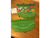 Two car sun shades Koo-di with felt farm pictures