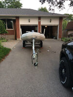 Saturn Inflatable Boat/W Trailer And Accessories 3000$ firm