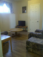 furnished in basement suite for rent
