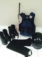 Various youth horse riding equipment