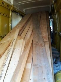 Lengths of pine timber/Marine ply
