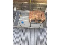 Large hamster cage with wooden hut £20