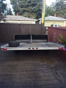 10 ft by 8.5 ft Tilting Utility / Snowmobile Trailer for Rent