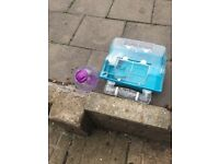Hamster box with all accessories and ball