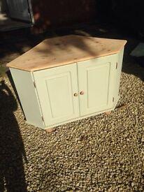 Shabby chic wood corner unit vintage