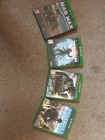 4 Xbox one games (no DLC)