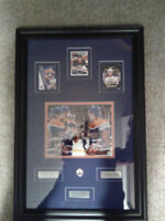 EBERLE, HALL AND NUGENT-HOPKINS SIGNED OILERS FRAMED PHOTO