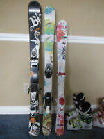 Excellent kids skis, boots and other equipment.