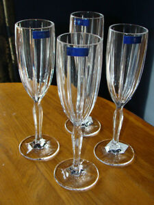 4 MARQUIS OMEGA WATERFORD CRYSTAL CHAMPAGNE FLUTES London Ontario image 6