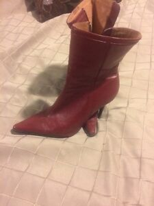 Women's size 7 red leather boots London Ontario image 1