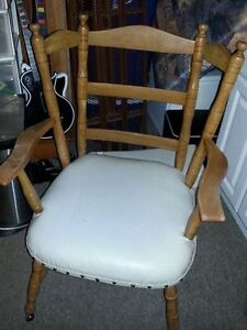 Antique Solid Wood Wide Seated chair