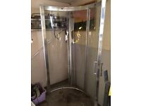 Beautiful curved shower screen and tray