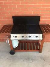 'Del Terra' 4 Burner BBQ w/ Timber Trolley + Gas Bottle Cowandilla West Torrens Area Preview