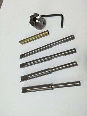 7 Piece Barrel Trimmer Cutter Kit Pen Mill Turning Tool 6 blade cutter head