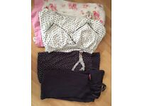 Maternity night wear and feeding pjs size 8 or size s