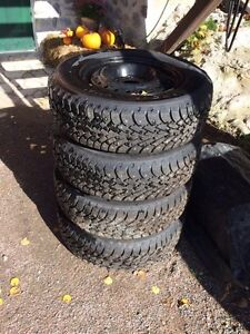 Studded winter tires on rims 205/70R15