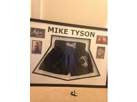 MIKE TYSON SIGHNED SHORTS AND PHOTOS