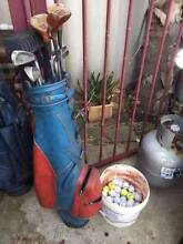Old Set of Golf Clubs with Bucket of Balls Beckenham Gosnells Area Preview